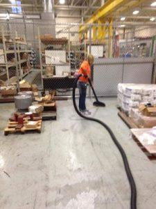 Sewage Backup Cleaning At Warehouse